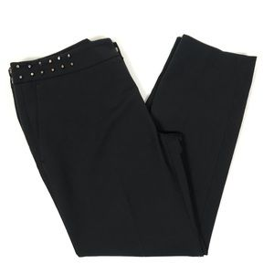 Zara Woman Black Dress Pants Stud Details